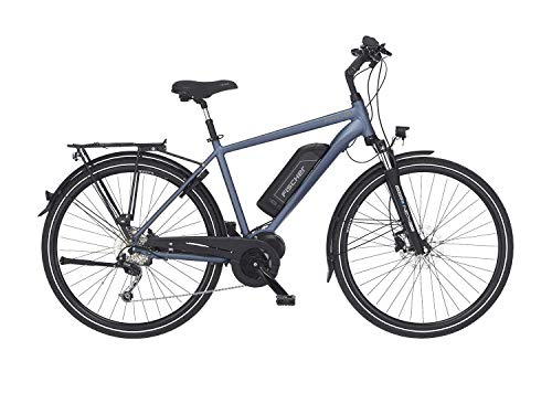 FISCHER Herren - Trekking E-Bike ETH 1820, Elektrofahrrad, saphirblau matt, 28 Zoll, RH 50 cm, Mittelmotor 50 Nm, 48 V Akku