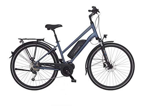 FISCHER Damen - Trekking E-Bike ETD 1820, Elektrofahrrad, saphirblau matt, 28 Zoll, RH 44 cm, Mittelmotor 50 Nm, 48 V Akku