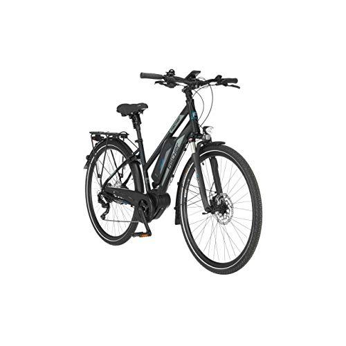 FISCHER Damen - Trekking E-Bike ETD 1861.1, Elektrofahrrad, schwarz matt, 28 Zoll, RH 44 cm, Mittelmotor 80 Nm, 48 V Akku