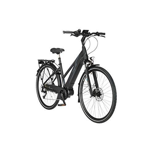 FISCHER Damen - Trekking E-Bike VIATOR 4.0i, Elektrofahrrad, schwarz matt, 28 Zoll, RH 44 cm, Mittelmotor 50 Nm, 48 V/504 Wh Akku im Rahmen