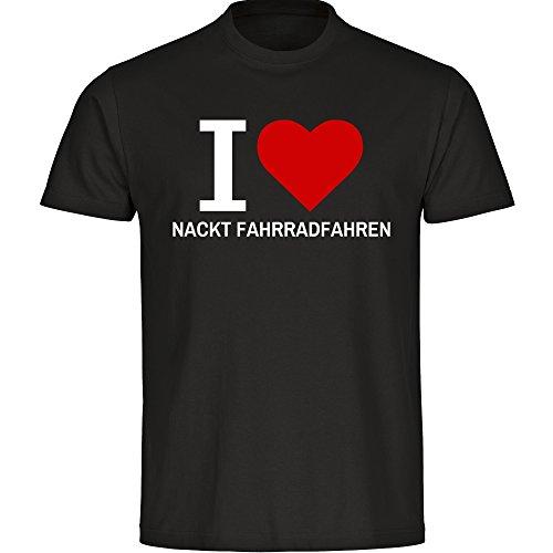 I LOVE NACKT FAHRRADFAHREN T-Shirt