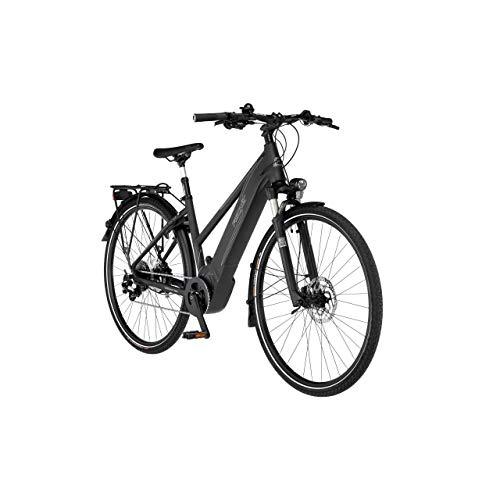 FISCHER Damen - Trekking E-Bike VIATOR 6.0i, Elektrofahrrad, Graphit metallic matt, 28 Zoll, RH 44 cm, Brose Drive S Mittelmotor 90 Nm, 36 V Akku im Rahmen