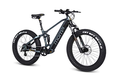 Moma Bikes Unisex-Adult E-Fat 26 PRO BIEFAT26NUN, Grau, Normal