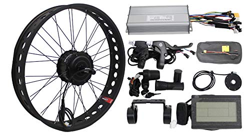 HalloMotor BAFANG 36V 250W Freehub Fat Tire Cassette Rear Wheel 190mm Ebike Conversion 20' 24' 26' Kits with KT Display and Controller for fatbike (26 Zoll)