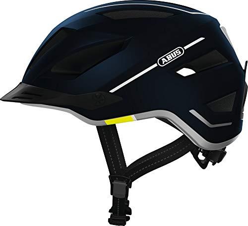 ABUS Pedelec 2.0 Stadthelm - Hochwertiger E-Bike Helm mit Rücklicht für den Stadtverkehr - für Damen und Herren - 81915 - Blau, Größe L