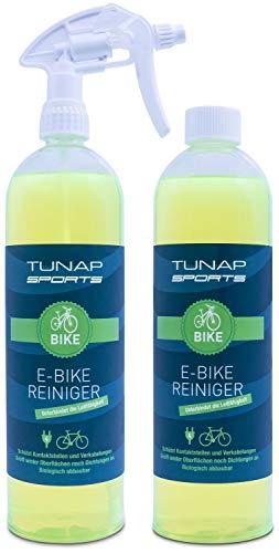 TUNAP SPORTS E-Bike Reiniger, 1000 ml Spray | für Elektrofahrräder - beseitigt Schmutz und schützt Kontakte vor Korrosion (2in1-Pack)