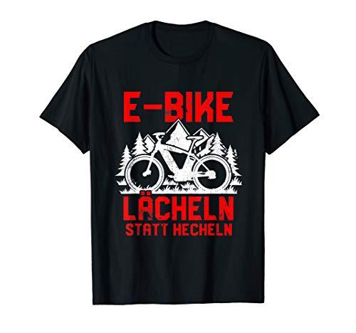 'Lächeln statt hecheln' | Lustiger Spruch Fahrrad E-Bike T-Shirt