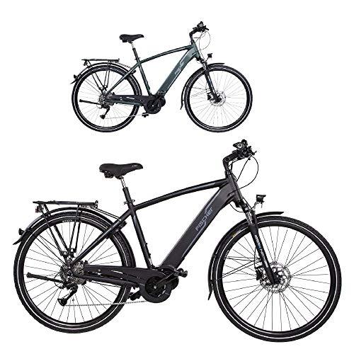 FISCHER Herren - Trekking E-Bike VIATOR 4.0i, Elektrofahrrad, schwarz matt, 28 Zoll, RH 50 cm, Mittelmotor 50 Nm, 48 V Akku im Rahmen