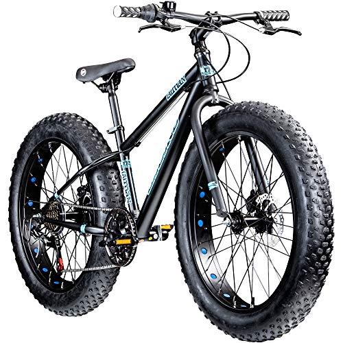 Galano Kinderrad 20 Zoll Fatbike Mountainbike Fatman 4.0 Fat Bike Kinderfahrrad (grau, 33 cm)