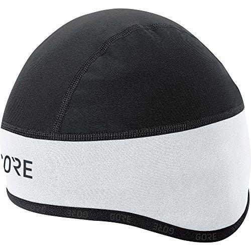 GORE Wear Winddichte Herren Fahrrad-Mütze, C3 WINDSTOPPER Kappe, Größe: 54-58, Farbe: Weiß/Schwarz, 100398