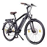 NCM Venice 48V 28 Zoll Urban E-Bike 250W Das-Kit Heckmotor 13Ah 624Wh Li-Ion Zellen Akku schwarz Venice