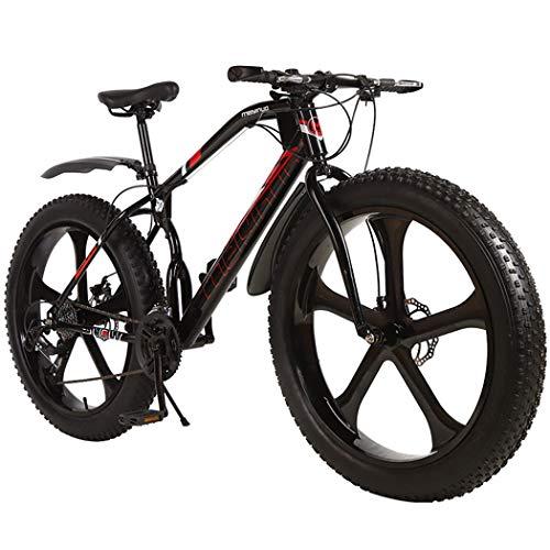 LSCC Mountainbikes 26 Zoll Fatbike Mountainbike 21-Gang MTB Hardtail 4.0 fette Reifen Fahrrad, Lagergewicht: 120 kg