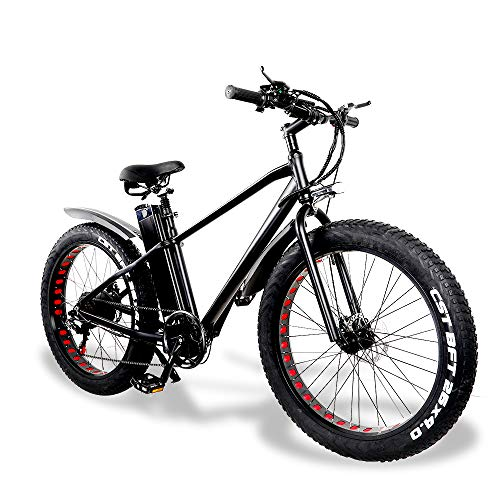 E-Bike Herren Elektrofahrrad Mountainbike Fatbike 26 Zoll 750W Moto 48V 20A Batterie 7 Gang