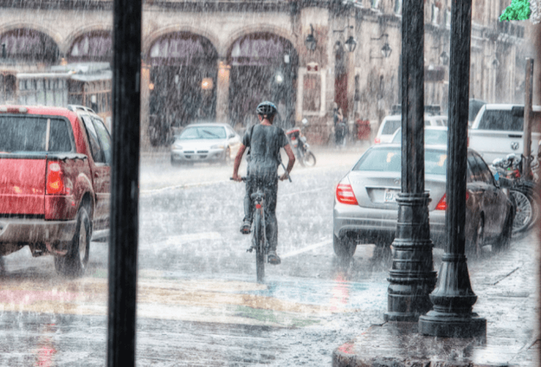 E-Bike im Regen