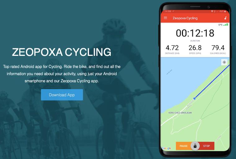 Zeopoxa Fahrrad Navi App