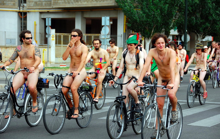 Nackt radeln am World Naked Bike Ride