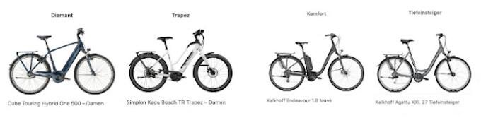 4 Rahmen von E-Bikes