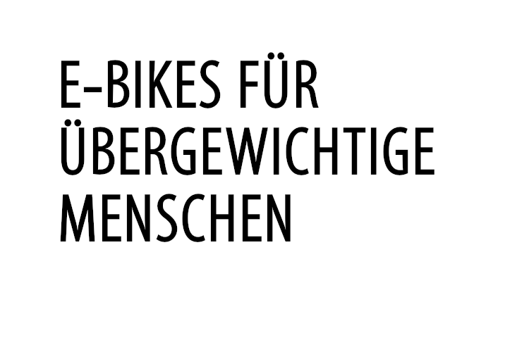 E-Bikes für Übergewichtige