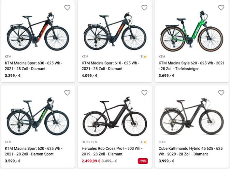 E-Bikes von Fahrrad-XXL