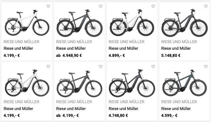 XXL Ebikes von Riese und Müller